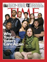 "Time-Magazine-Cover-Feb-2008 ""Why Young Voters Care Again."""