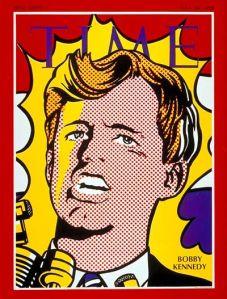 Roy Lichtenstein Time cover, May 1968: Robert F. Kennedy.